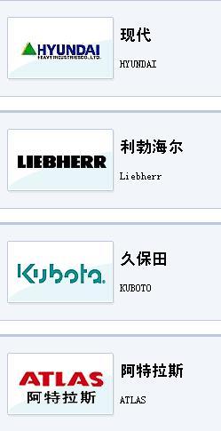 挖掘机的品牌和标志